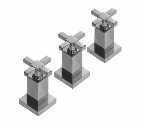 combo completo griferia hidromet geometry cruz lav+bid+ducha