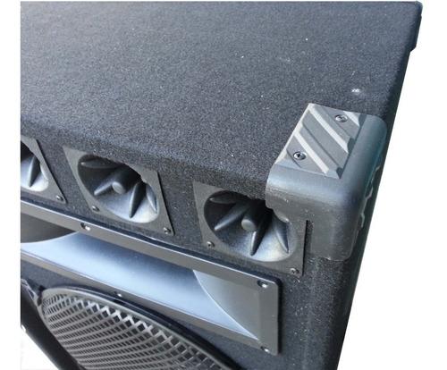 combo consola potenciada 4ch c/usb + 2 bafles 15  300w+ mic