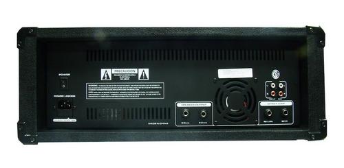 combo consola potenciada  8 ch bluetooth+2bafles15´´+2 micro