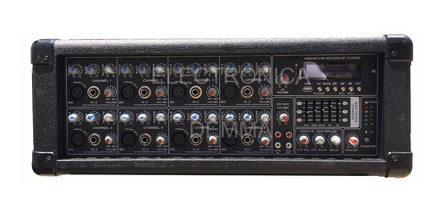 combo consola potenciada con usb + 2 bafles 300w+mic+cable