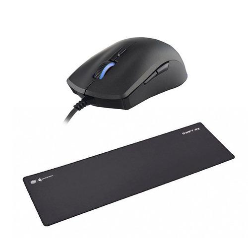 combo cooler master mastermouse s + mousepad swift rx xl cta