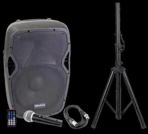 combo cornetas 15 amplificada  + paral + micrófono lee inf.