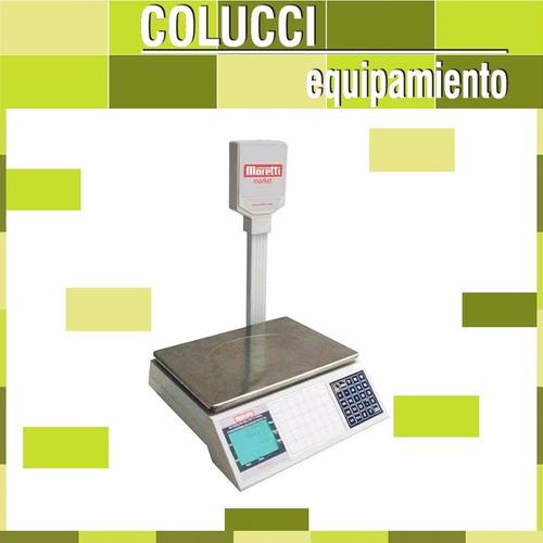 combo cortadora fiambres moretti 250 + balanza market 30 kg