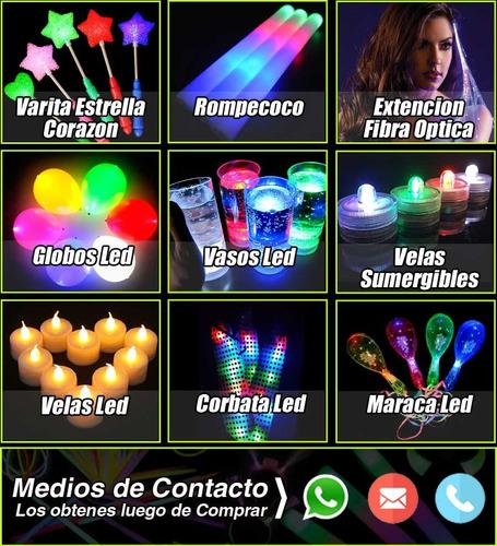 combo cotillon 100% luz super neon 100 artículos 50 personas