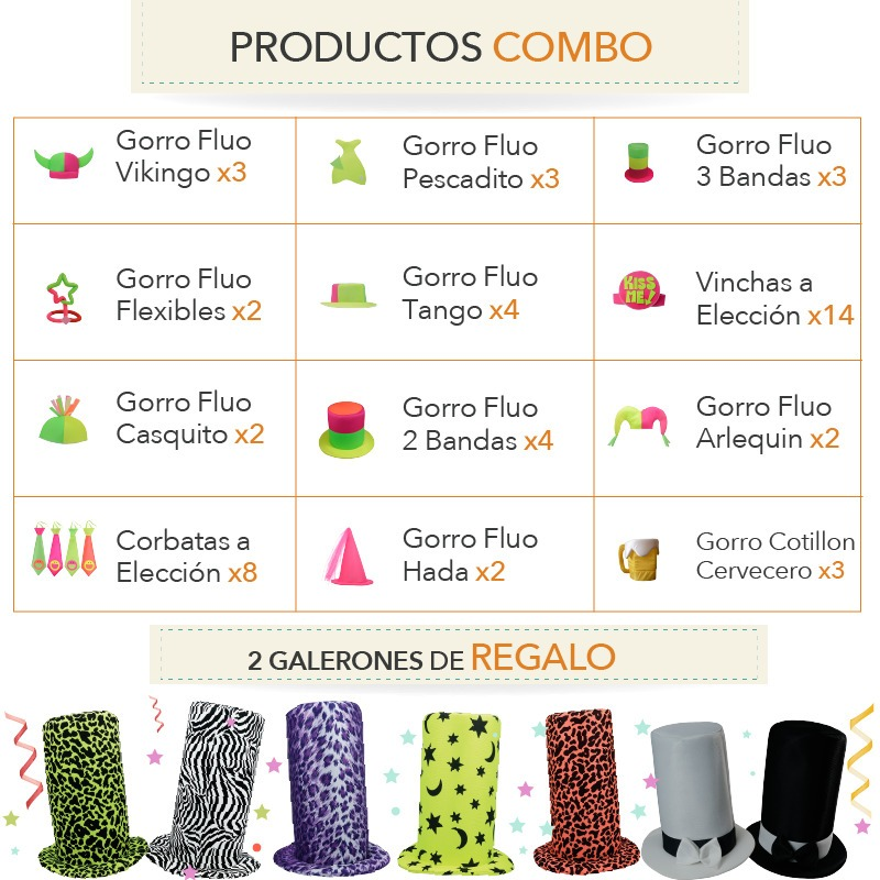 Combo Cotillon Fluo 90551510058