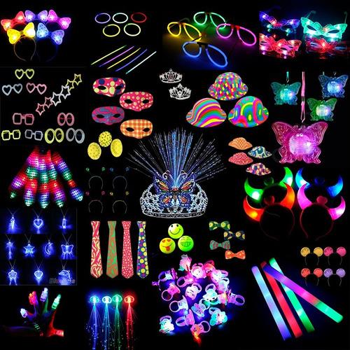 combo cotillon led luminoso 100 personas 273 art + regalo!!