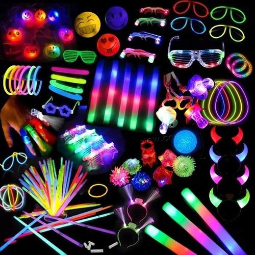 combo cotillón luminoso 234 art 100a120 personas + corona!!