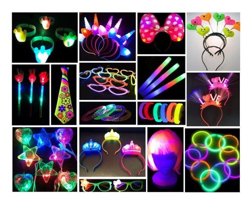 combo cotillon luminoso fluor 50 personas 102 art oferta led