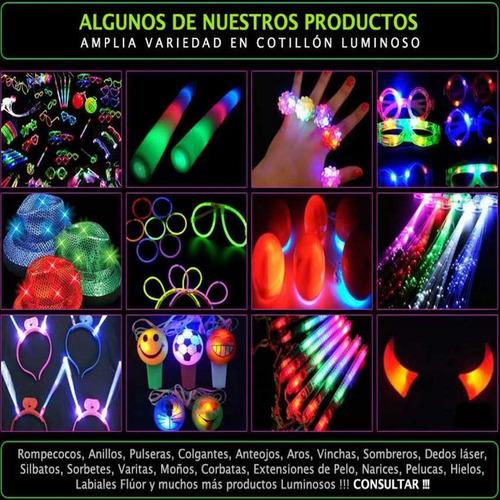 combo cotillón luminoso led 232 artículos 100/115 pers apróx