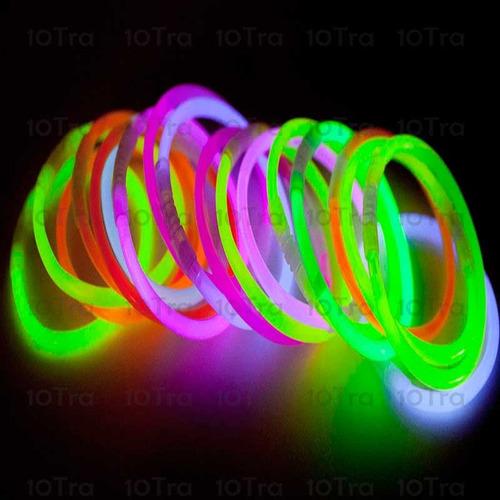 combo cotillón luminoso led 240 art neon y fluo 100 personas