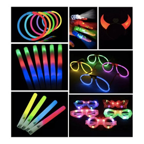 Combo Cotillon Luminoso Led Neon 50 Personas Casamiento