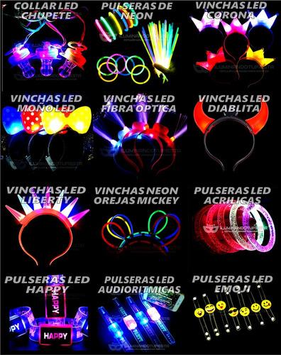 combo cotillon luminoso led neon 50 personas pack csn100