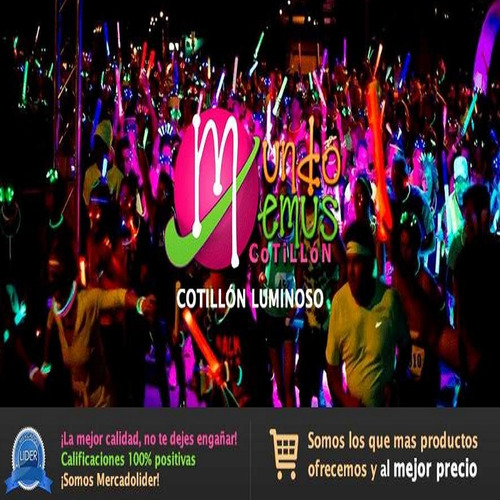 combo cotillón luminoso led/fluor 415 art. 200 per c/ regalo