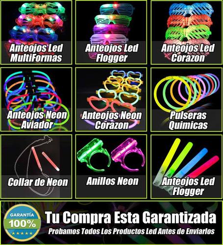 combo cotillón neon luminoso+carioca 330 art  150 personas