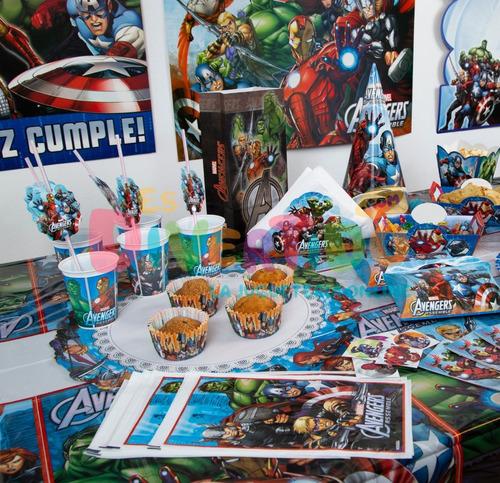 combo cotillón otero fiesta infantil avengers cumples x 20 p