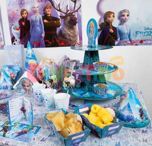 combo cotillón otero fiesta infantil frozen cumples x 20 (p)