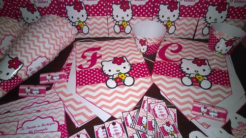 combo cotillon personalizado hello kitty x 20 chicos