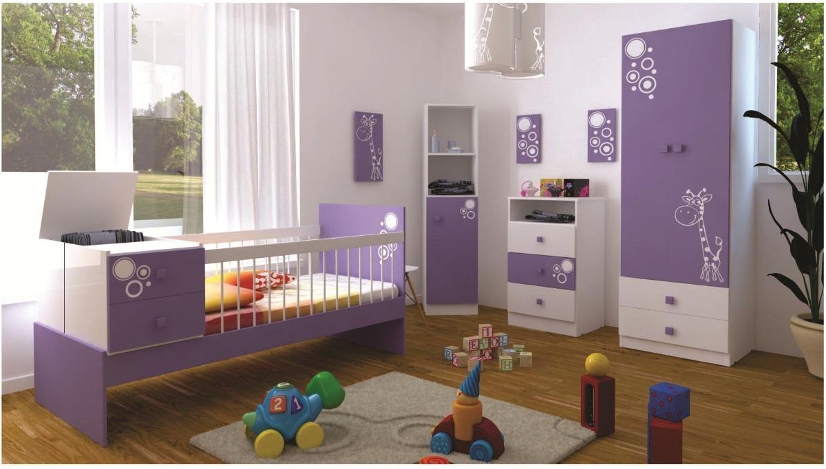 Combo Cuna Funcional + Ropero + Chifonier + Mueble Infantil ...