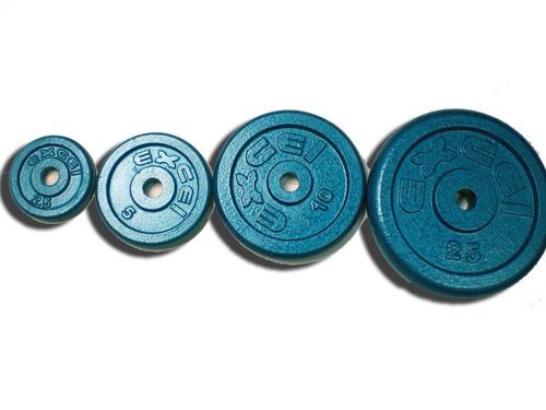 combo de 1 mancuerna y 6 discos de hierro excel +gel sport