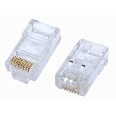 combo de 10 conectores +10 botas rj45 categoria 5e