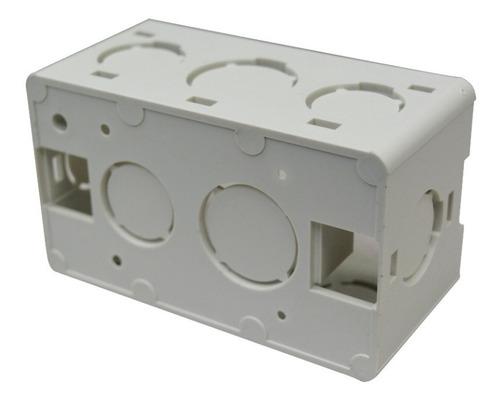 combo de 10 unidades cajetin de embutir 4x2 vimar block