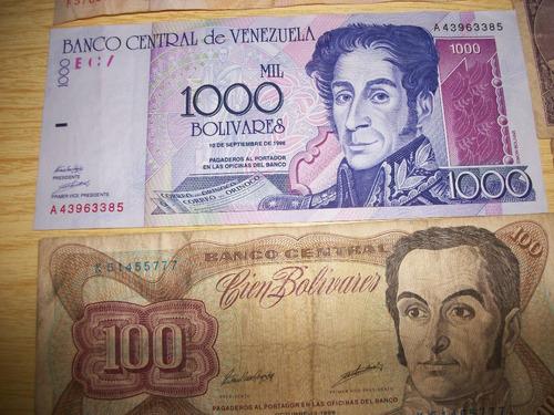 combo de 11 billetes venezolanos antiguos.