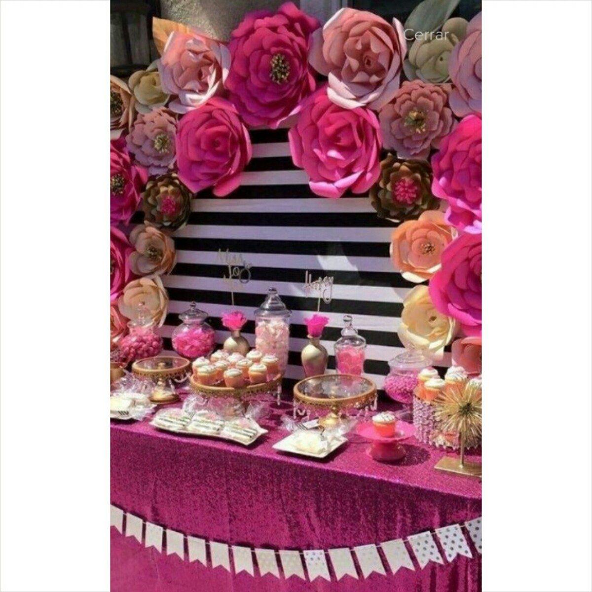 Combo de 12 flores de papel para bodas fiestas vintage - Decoracion fiesta vintage ...