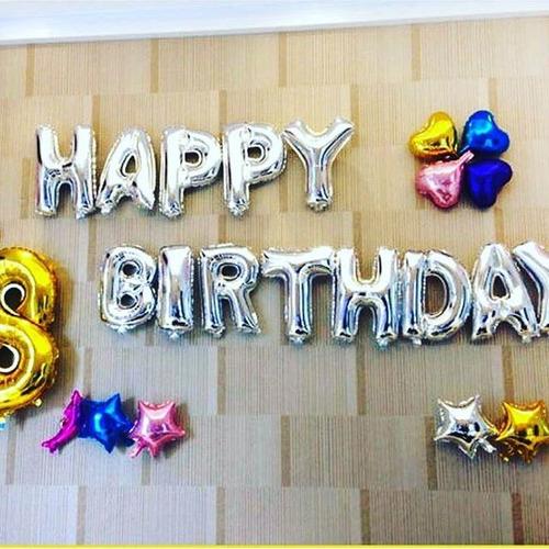 combo de 13 letras globo aluminio happy birthday