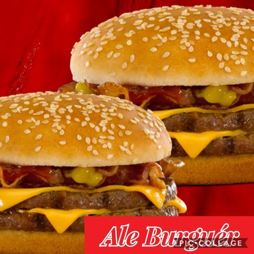 combo de 20 hamburguesas gigantes+pan