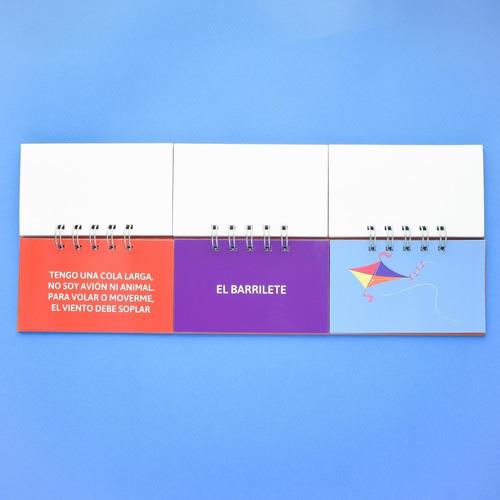 combo de 3 libros móviles: cuentos / adivinanzas / sílabas