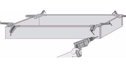 combo de 3 prensas esquineras escuadra 45 grados 3  trupper