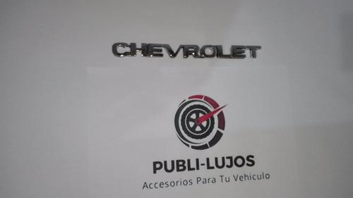 combo de 4 emblemas chevrolet + corsa + 1.4 + mpfi envio gra