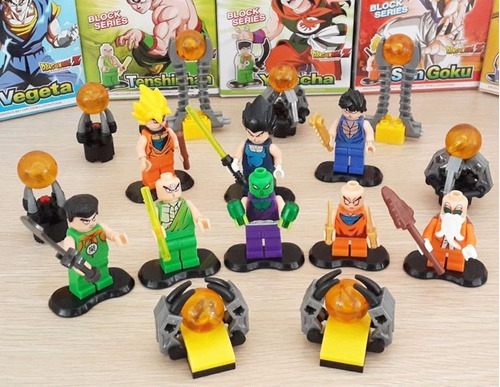 combo de 8 minifiguras armables de dragon ball z