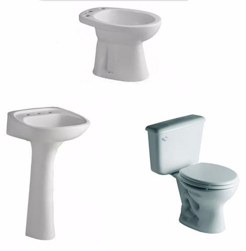 combo de baño inodoro mochila bidet lavatorio y columna