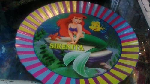combo de fiesta infantil la sirenita princesa