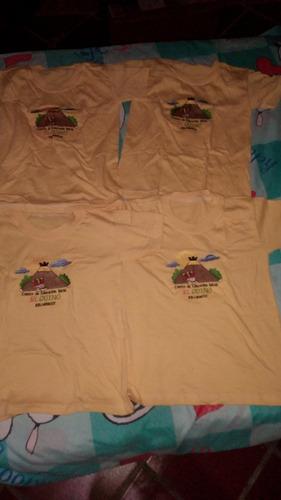combo de franelas amarillas talla 4 unisex preescolar