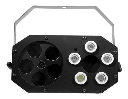 combo de luces dj mad box xl 3 en 1 + máquina de humo