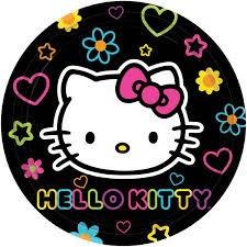 combo de manteleria importada hello kitty neon