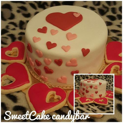 combo de mini torta y galletitas o cupcakes