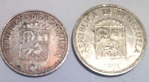 combo de monedas 5 céntimos y 10 centimos año 1971