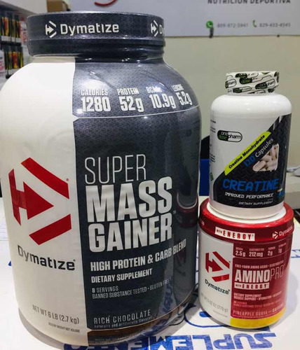 combo de proteína para aumentar masa muscular y fuerza