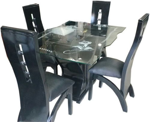 combo de sala con brazos y comedor 4 puestos mesa de vidrio