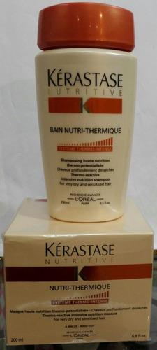 combo de shampoo x 250 m + tratamiento x 200 ml de kerastase