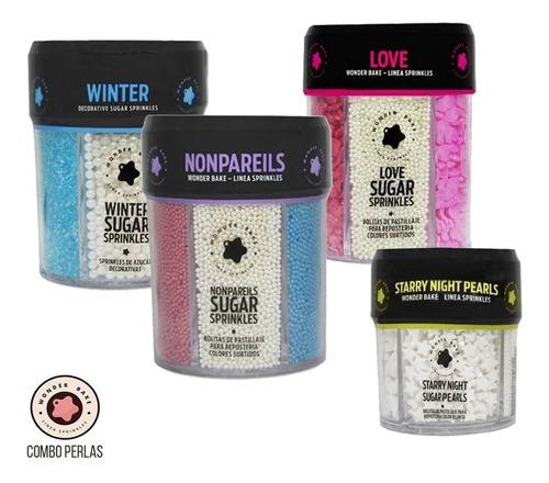combo de sprinkles y perlas wonder bake pack de 4 / lauacu