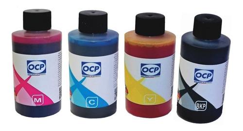 combo de tinta alemana ocp para plotter hp t120 t130 t520 t530 4x100ml