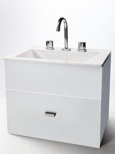 combo de vanitory melamina 50cm griferia lavatorio espejo