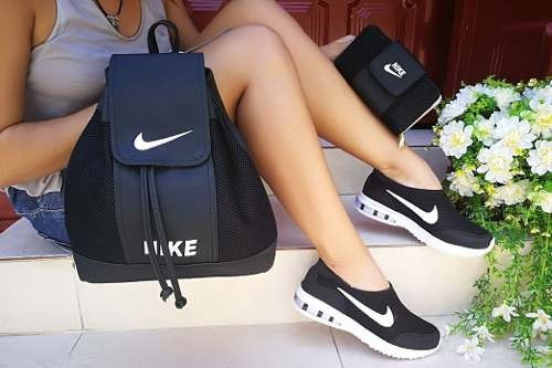 combo de zapatillas tenis+ bolso+billeter calidad colombiana
