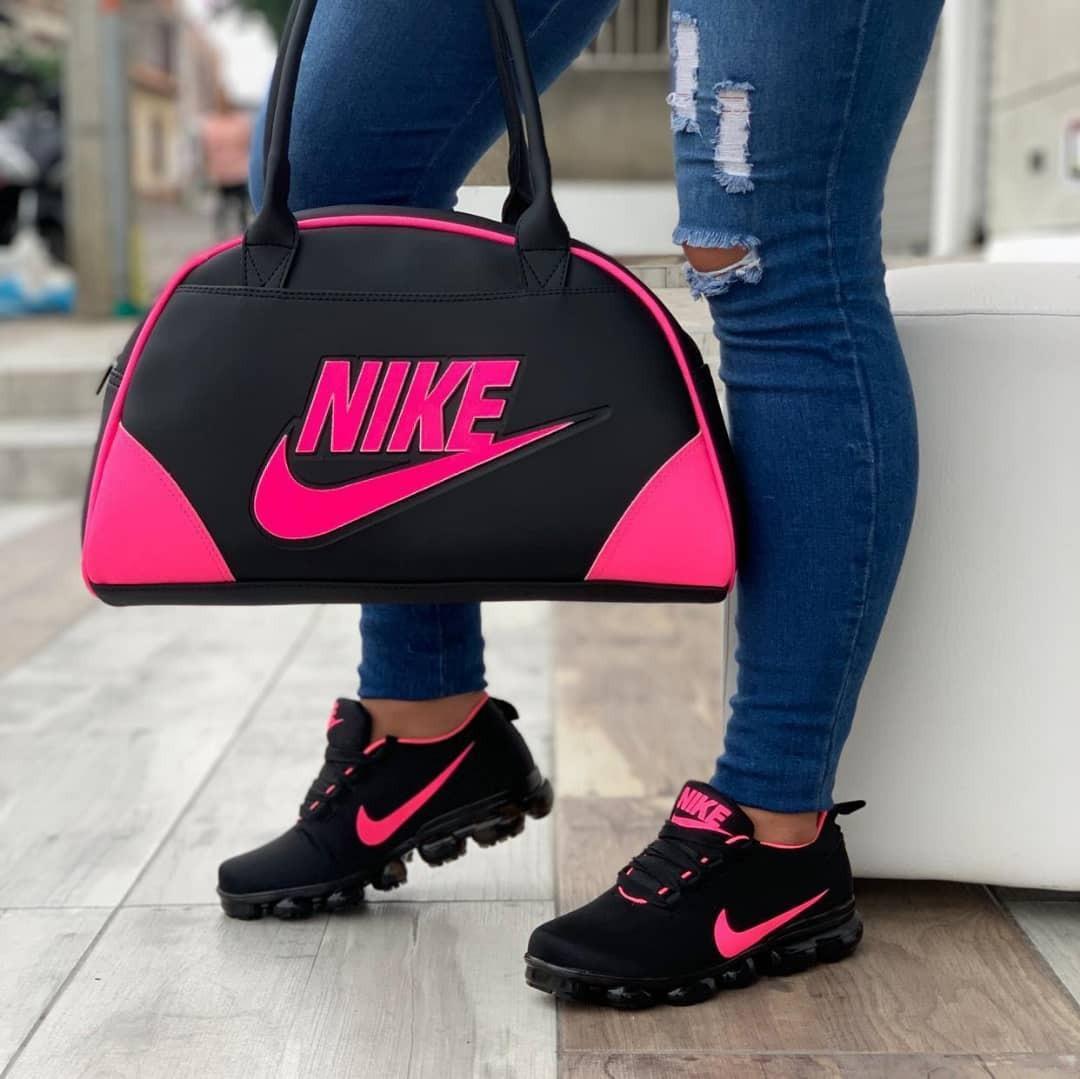 Combo De Zapatos Y Bolso Nike Moda Colombiana 2019