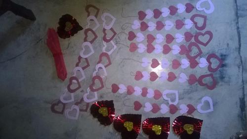 combo decoracion san valentin, amor, regalo, sorpresa 2opzs