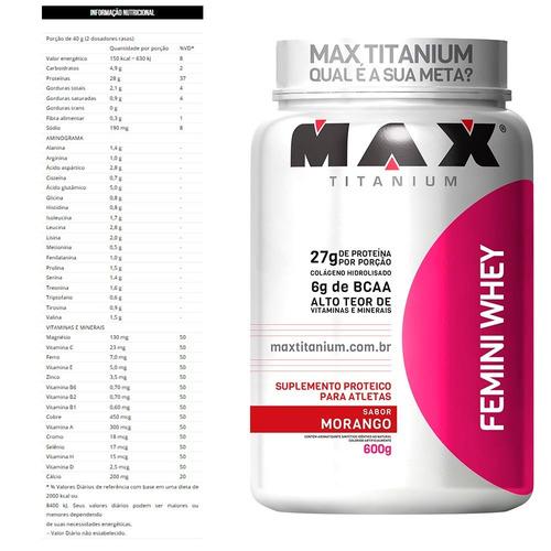 combo definição feminina - max titanium - entrega imediata